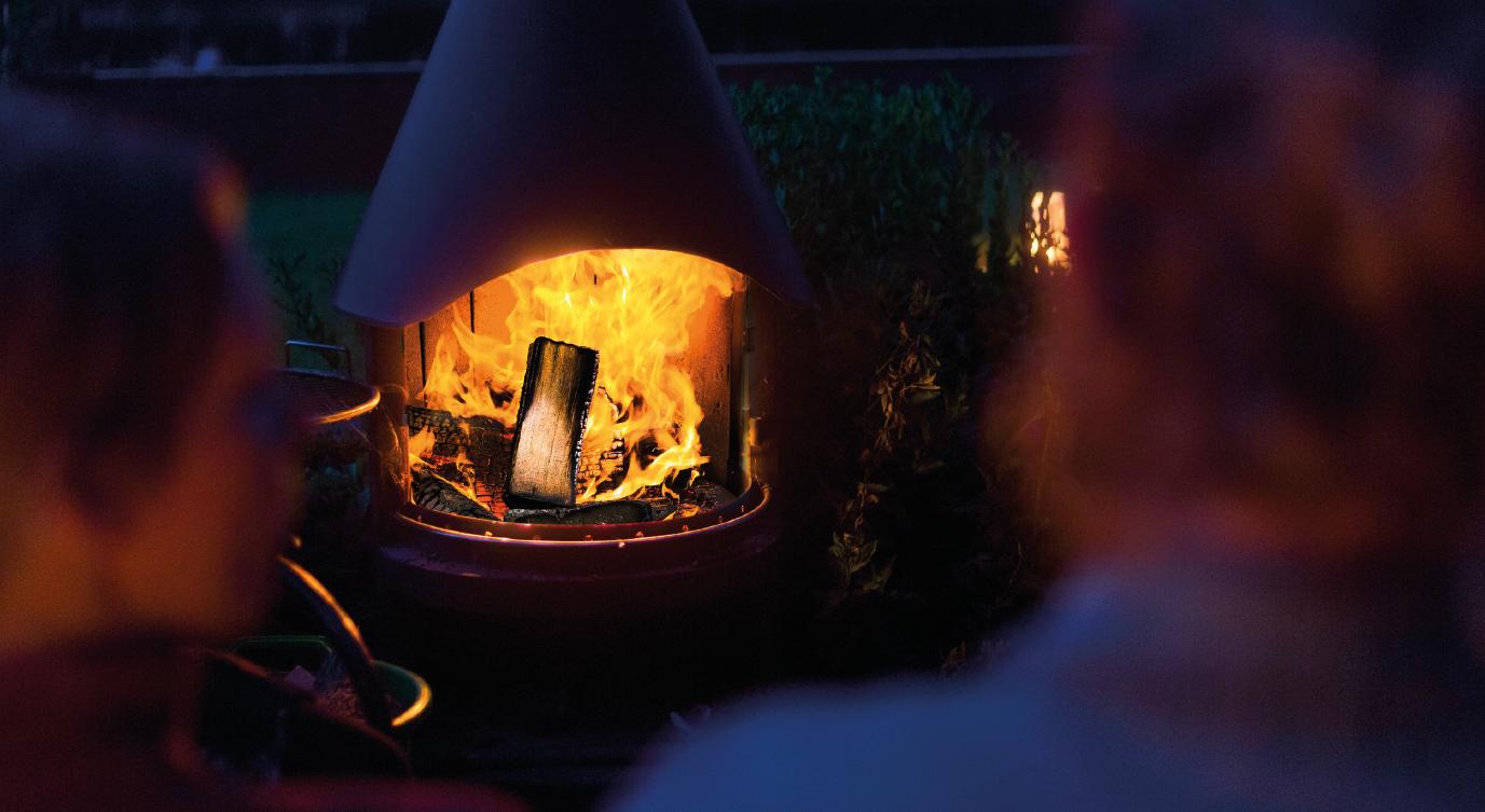 udendørs ildsted pejs i støbejern